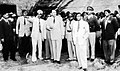 Kaptai dam in East Pakistan being visited by Ayub Khan.jpg