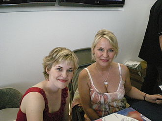 Kari Wahlgren - Kari Wahlgren with Wendee Lee at the Lucky Star English dub premiere in Los Angeles