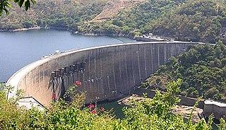 Kariba Dam dam on the Zambezi River