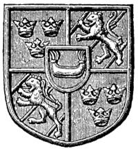 Udformningen af kong Karls våben (i rigsseglen 1448 t.v., moderne rensdyrtegnet t.h.) anvendes fortsat i Sveriges store rigsvåben, som har tre kroner i hovedskjoldets første og fjerde felt og Bjælboslægtens våben i andre og tredje adskilte af et gyldent kors og et hjerteskjold med det regerende dynastis våben, i dette fald Bondeättens.   Den korte tid Karl også var konge i Norge blev Bjælbovåbnet erstattet af den norske øksebærende løve.