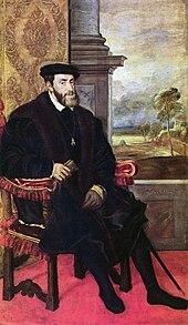 Carlo V ritratto da Tiziano, 1548.