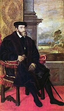 Karl V. (Gemälde von Tizian, wird heute Lambert Sustris zugeschrieben) (Quelle: Wikimedia)