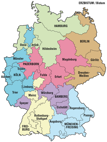 Provinces and Dioceses in Germany Karte der Erzbistumer und Bistumer in Deutschland.png