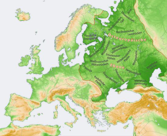 Uralgebirge Karte.Osteuropaische Ebene Wikipedia