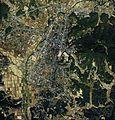 Kasama city center area Aerial photograph.1986.jpg