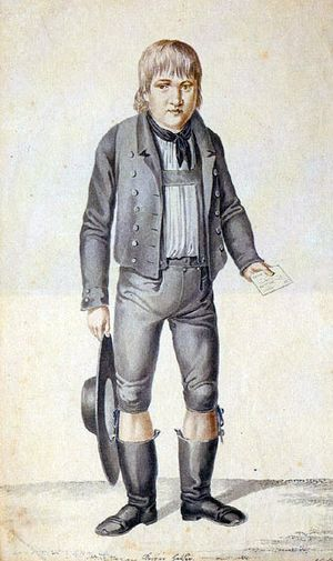 Kaspar Hauser - Contemporary painting of Hauser