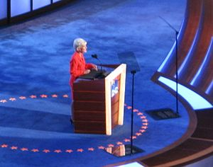 Kathleen Sebelius - Sebelius speaks during the second day of the 2008 Democratic National Convention in Denver, Colorado.