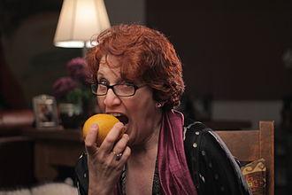 Kathy Gori - Kathy Gori eating a mango in 2011