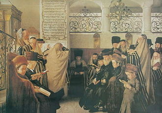 Acharei Mot - Day of Atonement (painting circa 1900 by Isidor Kaufmann)