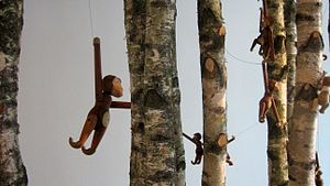 Kay Bojesen - Bojesen's wooden monkey at the Danish Design Centre in Copenhagen