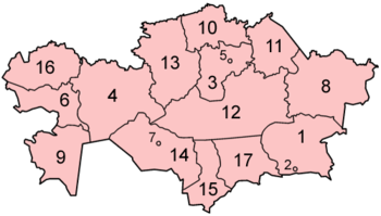 Kazakstans administrative regioner