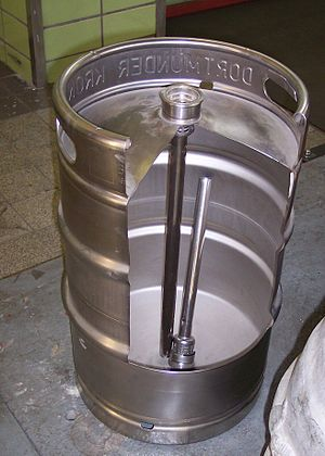 Keg - 50 liter DIN keg, cutaway