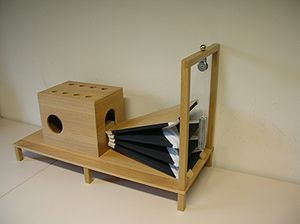 Wolfgang von Kempelen's speaking machine - A replica of Kempelen's speaking machine, built 2007–09 at the Department of Phonetics, Saarland University, Saarbrücken, Germany