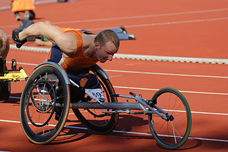 Paralympic athletics - Kenny van Weeghel in his racing chair at the 2006 IPC Athletics World Championships