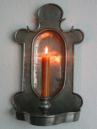 Candle clock - An example of a German candle clock