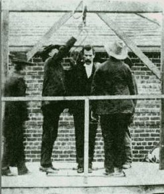 Tom Ketchum - Ketchum on the scaffold before hanging, April 26, 1901, Clayton, New Mexico