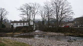 River Wharfe - Kettlewell Beck joining the River Wharfe.