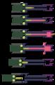 Kinematik, MG42 rollenübersetzter Verschluss mit kurz zurückgleitendem Lauf CC BY-SA 4.0 Autor Grasyl.png