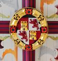 King's Bedchamber Stirling Castle, Order of the Golden Fleece Ceiling Boss (5897454071).png