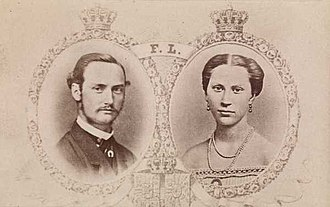Louise of Sweden - Crown Prince Frederick of Denmark and Louise double portrait