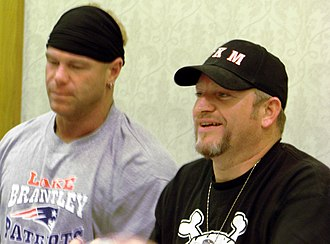 The New Age Outlaws - The Voodoo Kin Mafia (Kip, left, and B.G., right) at TNA Lockdown Interaction in 2007