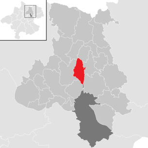 Location of the municipality of Kirchschlag near Linz in the Urfahr-Umgebung district (clickable map)
