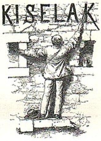 Joseph Victor von Scheffel - Joseph Kyselak was described in Scheffels poem 'Aggstein', illustration about 1860