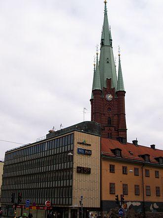 Klara (Stockholm) - New and old in Klara, in front of Klara Church