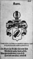 Knorr(ingen) Wappen 1625.png