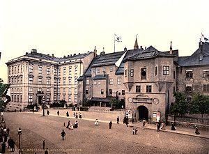 Königsberg Castle - Königsberg Castle as seen from the Eastern side, 1910