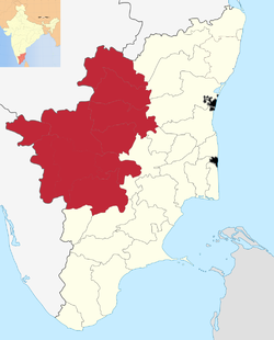 Kongu Nadu region within Tamil Nadu