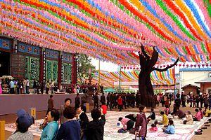 Jogyesa - Image: Korea Seoul Jogyesa Chinese Scholar Tree 2195 06