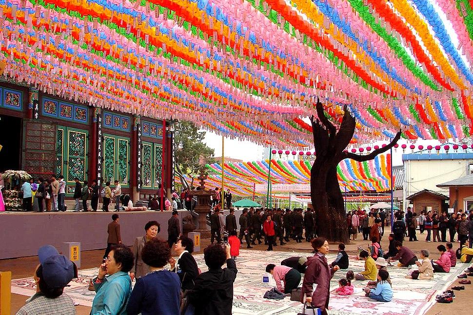 Korea-Seoul-Jogyesa Chinese Scholar Tree 2195-06