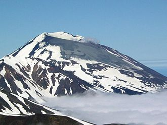 Korovin Volcano - Summit of Korovin Volcano during its eruption of July 2004.