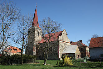 Kostelec (Tachov District) - Image: Kostel sv. Jana Křtitele Kostelec (okres Tachov, Česká republika)