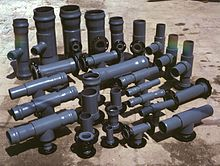 dark-colored PVC fittings