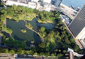 Kyu Shiba Rikyu Garden - Kyū Shiba Rikyū Garden as seen from the Tokyo World Trade Center