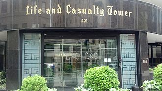 Life & Casualty Tower - Image: L&C Tower Entrance