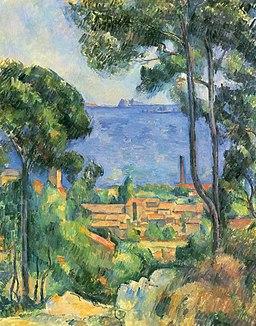 L'Estaque et le Château d'If, par Paul Cézanne