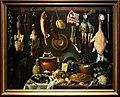 L'empoli, dispensa con botte, selvaggina, carni e vasellame, 1624, 01.jpg