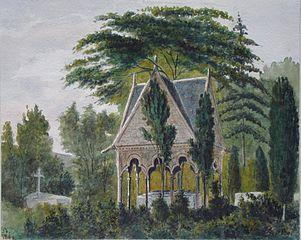Tombeau d'Abailard et d'Eloïse au cimetière de l'Est