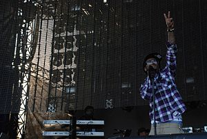 Lil Wayne - Lil Wayne performing at Voodoo Music Experience in 2008.