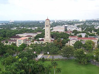 University of Puerto Rico, Río Piedras Campus - The University of Puerto Rico at Río Piedras campus, and its distinctive clock tower.