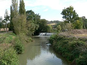 Gers (river) - The Gers river in Ornézan