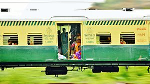 Chennai Suburban Railway - A typical EMU train