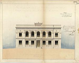 Fredrik Wilhelm Scholander - Image: Ladugårdslandsteater n, ritning