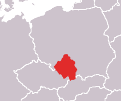 Upper Silesia is in Poland, to the north-east of the Czech Republic