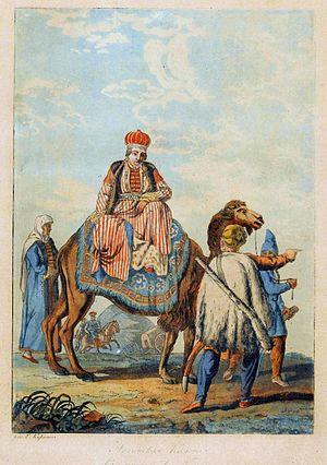Nogais - Nogay princess by Paul Jacob Laminit after Emelyan Korneev, 1812, National Museum in Warsaw