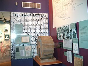 Georgia Land Lotteries - The Land Lottery display at New Echota, former capital of the Cherokee nation.