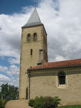 Lannux - église clocher.JPG